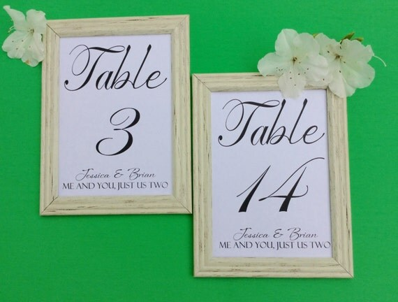 Wedding Table Number Cards,Printed Ready to Ship, Fancy Font, Card Insert 5x7