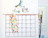 School CALENDAR with a planner - july 2015 to june 2016 -  to do list - ENGLISH version - size A4 =8,27 x 11,7""