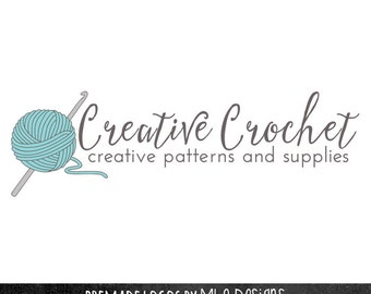 Logo Crochet : ... logos custom logos knitters logo craft logo watercaolor logo crochet
