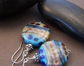 Passages Beaded Earrings - Lampwork Glass Bead and Sterling Silver Earrings