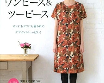 Easy Sewing Dress Pattern - Japanese Craft Book for Women Clothing, Lady Boutique Series - One Piece, Two Piece Dress - M, L, LL Size, B1579
