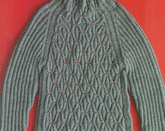Hand Knit Stylish Sweater Pattern, Japanese Knitting Pattern Book, Women Clothing, Wrap, Stole, Cap, Easy Knitting Tutorial, Saichika, B1378