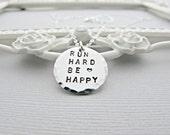 Run Necklace, Running Necklace, Silver, Running Necklace, Marathon Jewelry, Running Jewelry, Silver Necklace, Run Jewelry,