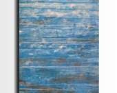 Original Large Abstract painting - 18 X 36- FREE US SHIPPING by Artist JMJartstudio- No Way Out -Wall art- Blue painting-XXl custom