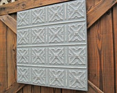 Ceiling Tin Tile. VINTAGE tile FRAMED & ready to hang. Antique Architectural salvage. Metal Wall decor. Wall Art.