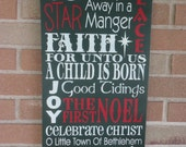 CHRISTMAS Sign/CHriStMas  Is  ALL  THesE  ThINgS/HoMe Decor/Christmas Decor/Typography Sign/Rustic/Primitive/DAWNSPAINTING/12 x 24