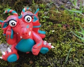 Polymer Clay Dragon 'Eye-lene' - Limited Edition Handmade Collectible