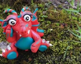 Polymer Clay Dragon 'Eye-lene' - Limited Edition Handmade Collectible