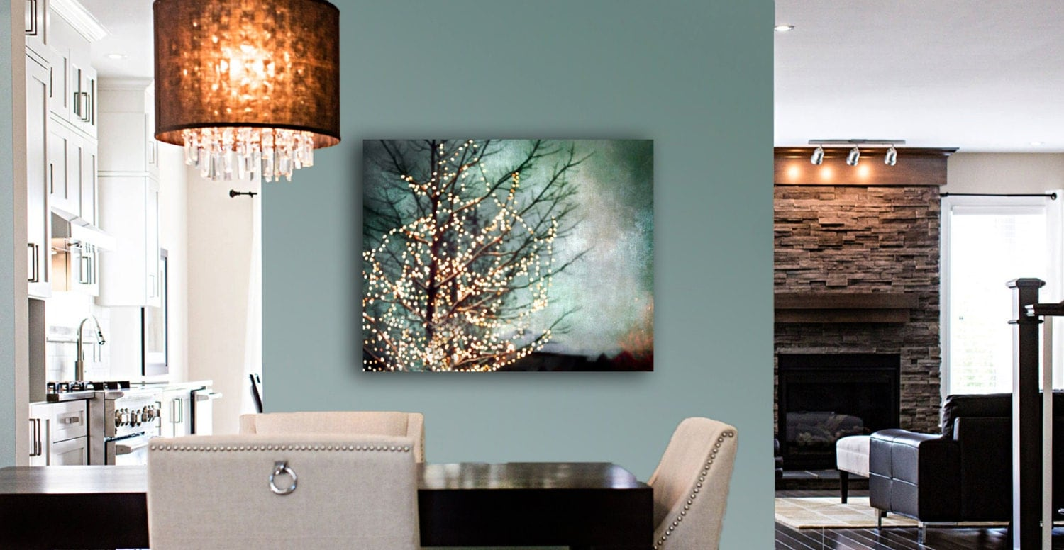 Large Abstract Canvas Art Teal Wall Art Canvas Gold Black