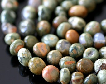 6-7mm Ryolite Nugget Beads - Jewelry making Supplies -  Semiprecious Stone Nuggets Bead -  Choose Amount
