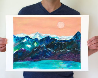 Imagine // 13 x 19 large eco-friendly wall art mountain print
