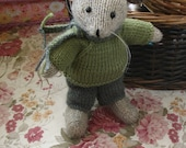 Beautiful hand knitted mouse doll