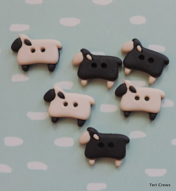 "Sheep Buttons, Packaged Novelty Buttons, ""Sew Thru Sheep"" by Dress It Up Jesse James, 2 Hole Buttons, Embellishments"