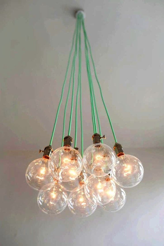 9 cluster pendant light modern chandelier by hangoutlighting