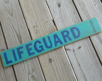 Rustic LIFEGUARD STATION Sign - Lake House/Beach Cottage Decor - Dock/Boat House - Pool Lifeguard Sign - Swimming Safety - Recycled Wood