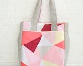 Diaper/Everyday Tote Bag - Geometric in Pastels