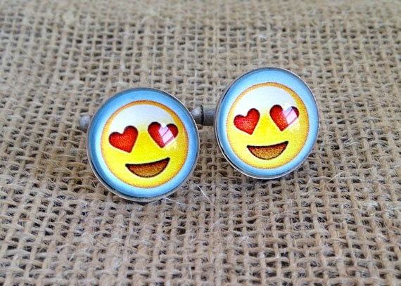 Smile Heart Emoji Cufflinks