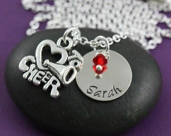 Cheer Gift • Personalized Cheerleader Gift • Cheer Necklace • Cheerleader Necklace • Cheer Team Gift • Cheer Jewelry • Cheer Coach Gift