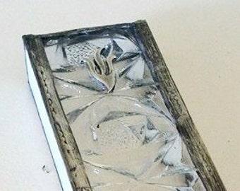 Israel, Mezuzah , Judaica , Jewish Stained Glass Design handmade