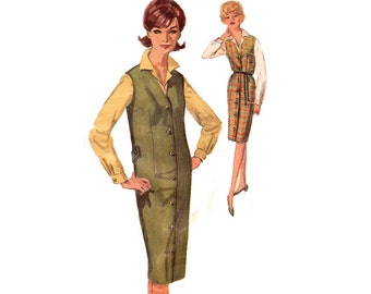 60s Retro Womens Jumper and Blouse Pattern Simplicity 5140 Vintage Sewing Pattern Bust 36 Inches UNUSED FF