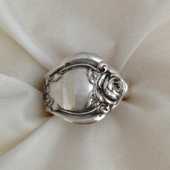 spoon ring 1903 silverware jewelry vintage