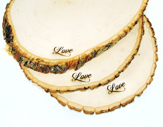Rustic Wood Tree Slice Centerpieces, Trivets, Hot plates, Chargers -plain - 12 - 15 inch diameter