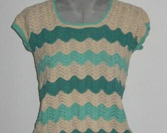 60s 70s vintage crochet top