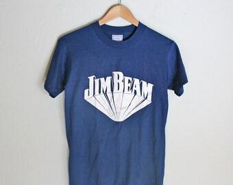 Retro Jim Beam Tshirt - New Old Stock - Small