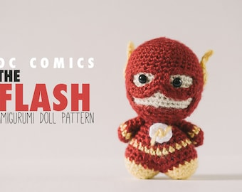 The Flash Amigurumi Doll  // DC Comics Crochet Pattern // Instant Download