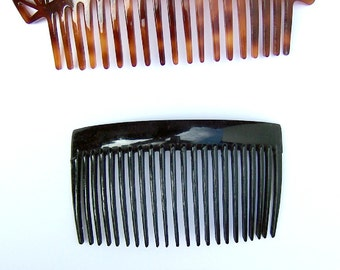 Vintage hair combs 3 faux tortoiseshell hair jewelry headdress headpiece hair ornament hair accessory