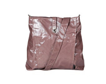 Backpack and Messenger bag Vegan Nude, 2 IN 1, Laptop 13 backpack, multiple pockets, Vegan Shoulder Bag,  Leah