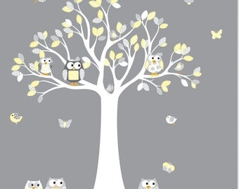 Wall Decals Nursery Etsy - Yellow wall decals