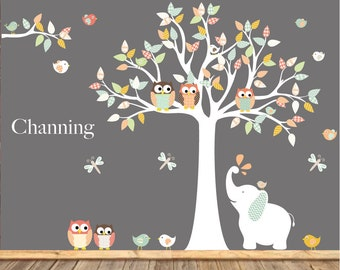 Wall decals nursery - Nursery wall decal - Nursery Tree Vinyl Decal - Nursery decals - nursery
