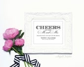 Cheers to the Mr and Mrs - 8 x 10 Wedding Poster, Bar Sign, Table Sign or Art Print by Abigail Christine Design