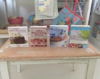 BAKING COOKBOOKS - Cake Decorating - Dollhouse Miniature 1:12 Scale