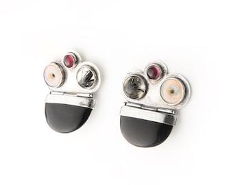 Funky One of a Kind Statement Sterling Silver Earrings Earrings