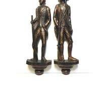 Vintage Colonial Soldiers Wall Plaques, Dart Soldiers Wall Hanging, Vintage Coppercraft Soldiers, Man Cave,  70's Historical Wall Decor