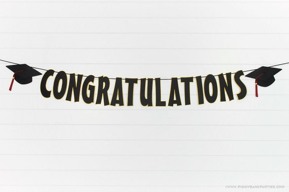 Congratulations Graduation Banner : by PiggyBankParties on ...