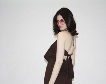 Vintage 1970s Jumpsuit - Vintage 70s  Romper  - The Powwow Playsuit - WD0180