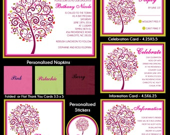 Tree of Life Bat Mitzvah Invitation