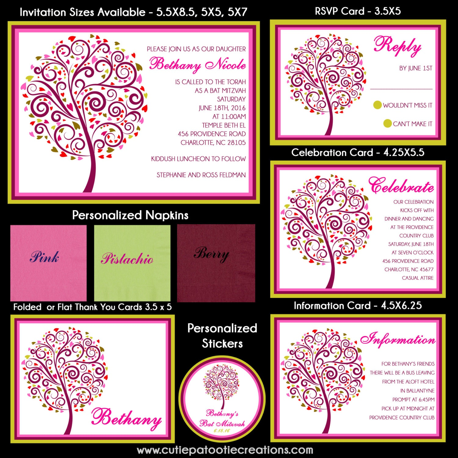 Tree Of Life Invitation Rsvp Celtic Life By: Tree Of Life Bat Mitzvah Invitation