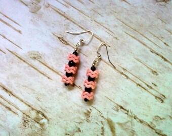 Pink and Black Earrings (2107)