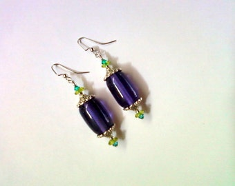 Chunky Purple Earrings (1909)