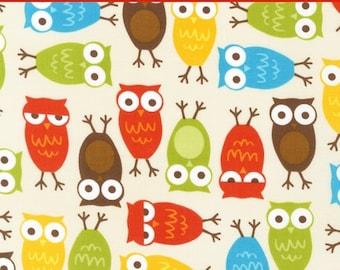 "LAMINATED Cotton  - Owls Anne Kelle Urban Zoologie - Robert Kaufman, 56"" Wide, BPA & PVC Free"