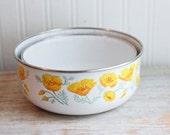 Enamelware Poppy Flower Mixing Bowls, Orange Poppies, Kobe Kitchen, Serving Bowl, Vintage Kitchen, Stacking Bowl, Cottage Kitchen, Fall Home