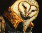 "Owl Art- ""Night Sentry"" - 5x7 print"