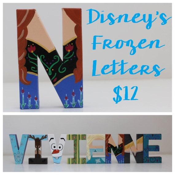 Disney Frozen Initial Letters by LeeseyAnnLetters on Etsy