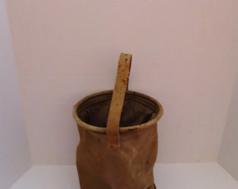 Collapsible WWII US Military Canvas Water Bucket