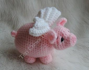 Pig With Wings Crochet Pattern by Teri Crews