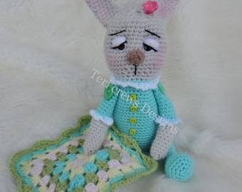 Baby Bunny Softie Amigurumi Toy Crochet Pattern by Teri Crews